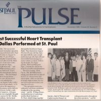 Dr. Manny was a part of the 1st heart transplant team in Dallas
